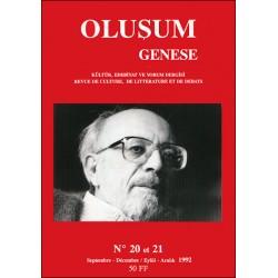 Oluşum Genèse N° 20-21